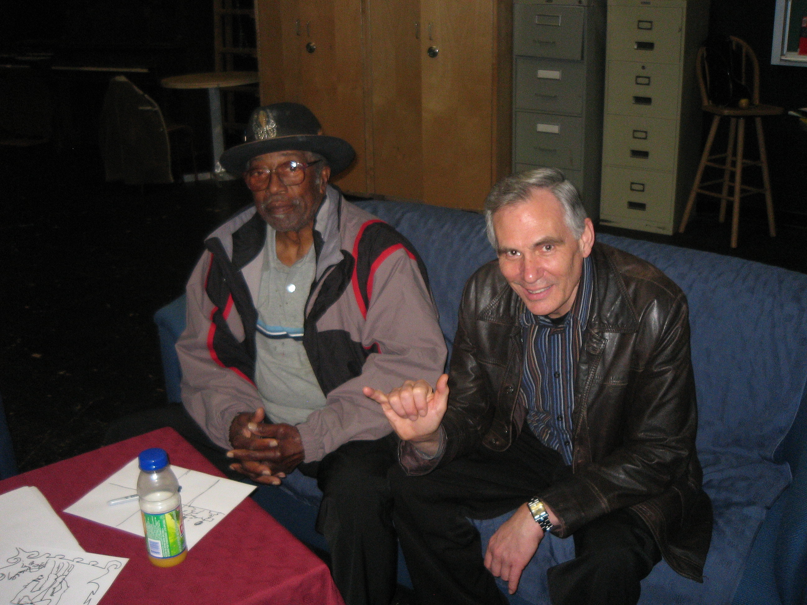 Bo Diddley and Bryon Tosoff. Bryon Played keyboards at Bo's concert in Mission BC MArch 4 2007